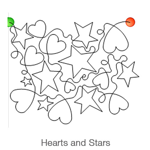 hearts and Stars Longarm Pattern