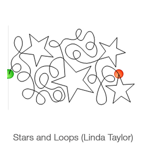 Stars and Loops Large Longarm Pattern
