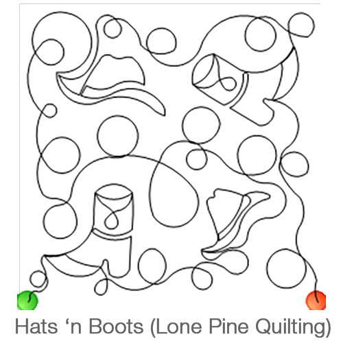 Hats and Boots Longarm Pattern