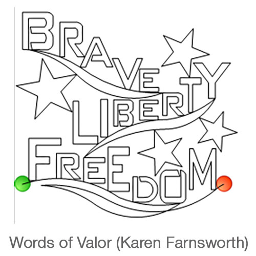Words of Valor Longarm Pattern
